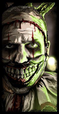 "American Horror Story - Freak Show - Brian Roll - ''Twisty'' ---- ""American Horror Story"" art show at Hero Complex Gallery (2015-10) #AHS"