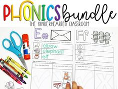 Kindergarten and First Grade teachers will LOVE this Phonics Bundle! It covers everything from ABC's, CVC Short Vowels, Diphthongs, Blends, Digraphs, Trigraphs, Double consonants, Vowel Teams, and Word Families. It is a cute classroom decor set as well!