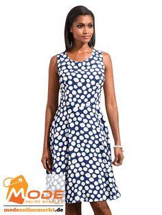 Kleid mit verspieltem Tupfenmuste Mit R halsausschnitt vorn kleinem V Ausschnitt hinten Mit nahtverdecktem Reiß... #BAUR #AlbaModa #Rabatt #20 #Marke #Alba #Moda #Farbe #blau #Material #Polyester #Viskose #Onlineshop #BAUR #Damen #Bekleidung #Damenmode #Kleider #Sale #Sommerkleider | sportliche Outfits, Sport Outfit | #mode #modeonlinemarkt #mode_online #girlsfashion #womensfashion Alba Moda, Sport Outfit, Mode Online, Material, Dresses, Fashion, Polka Dot Patterns, Ladies Fashion Dresses, Athletic Outfits