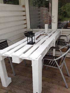 Pallet Porch Table #PalletTable, #PalletTerrace