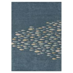 I pinned this Crisfield Rug in Blue from the Bold & Beachy event at Joss and Main!  I want to pull out our carpet and put in tiles with this area rug If I can get it large enough.