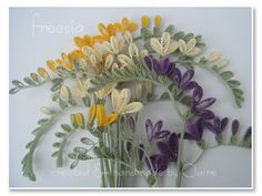 Claire's paper craft: freesia
