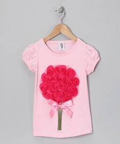 Take a look at this Light Pink Patty Tee - Toddler & Girls  by 2 Crystal Chicks on #zulily today!