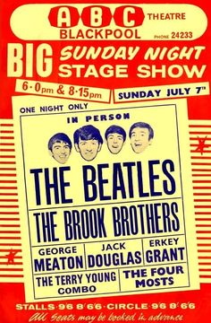 """The Beatles - Hollywood Bowl."" Fantastic A4 Glossy Art Print Taken from A Vintage Concert Poster"