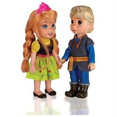 Disney Frozen 6-inch Anna and Kristoff Toddler Doll (00678352310308) Fearless optimist Anna sets off on an epic journey teaming up with rugged mountain man Kristoff, and battle the elements in a race to find her sister Elsa, and save the kingdom of Arendelle.