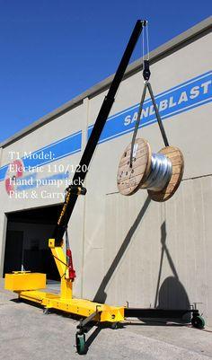 Smart-Rig Portable Cranes - Small Floor Crane Hoist Mini Cranes Mobile
