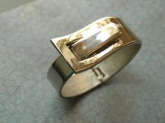 Silver Buckle Bangle by oldiesandgoodiesCA on Etsy, $19.00