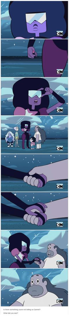 Since Garnet has Future Vision, what did she see?