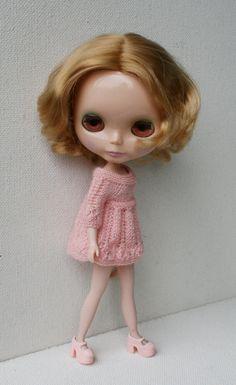 Blythe dress Pink dress for Blythe doll by VolnaDollsClother