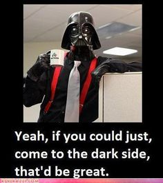 Office space AND star wars AND think geek. Hehe :)