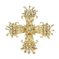 Tiffany & Co. Schlumberger® Maltese Cross clip of diamonds in 18k gold.