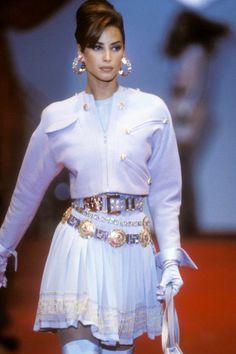 "aestheticjunkyard: "" Christy at Atelier Versace Fall/Winter 1991 """