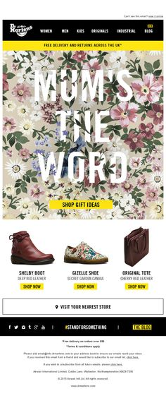 Dr Martens Doc Martens Mothers Day Email Design Email Marketing Design, Email Design, Digital Marketing, Mothers Day Advertising, Web Design, Graphic Design, Email Newsletter Design, Email Campaign, Best Mother