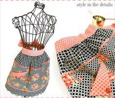Sweet Half Apron with Piping and Flap Pocket: In Handmade by Bonnie & Camille | Sew4Home