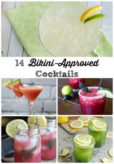 14 Bikini-Approved Cocktails via thefrugalfoodiemama.com #lowcalorie #skinny #mixedrinks
