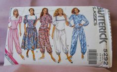 1991 Uncut Butterick Classic  Pattern  5292  by lovelylovepatterns, $4.25