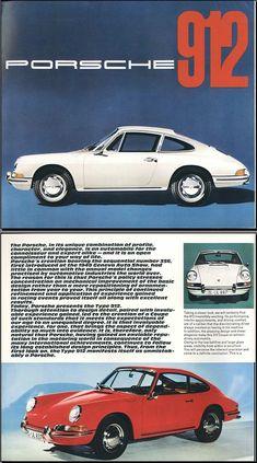 Brochure Porsche 912 wit 2x (1965) - Origineel publiciteitsmateriaal SWB t/m 1968 - Bijzonder (foto)materiaal - Klassieke Porsche 911 en 912 Club Nederland