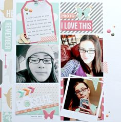 layout using Teresa Collins Designs Daily Stories