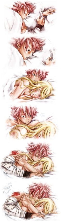 Fairy Tail Natsu x Lucy - Nalu (by Fairy Tail Nalu, Fairy Tail Love, Fairy Tail Amour, Fairy Tail Natsu And Lucy, Fairy Tail Ships, Fairytail, Gruvia, Gajevy, Couples Fairy Tail