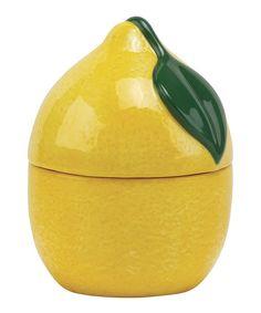 C.R. Gibson Summer Lemon Stackable Measuring Cup Set