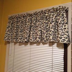 Window Valance Leopard Print One Curtain 84 x 16.5 Inches CUTE #RusticPrimitive