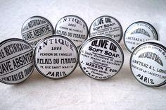 Lot de 8 boutons de Porte Placard Tiroir Meuble Céramique vintage shabby chic: Amazon.fr: Bricolage