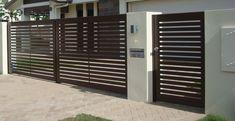 Simple and elegant electric gate Gate Wall Design, House Main Gates Design, Steel Gate Design, Front Gate Design, House Front Design, Fence Design, Modern House Design, Door Design, House Front Gate