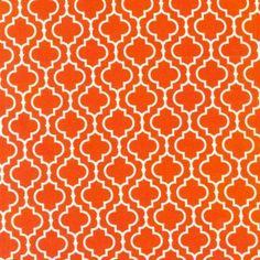 Metro Living - Orange and White Geometric Cotton