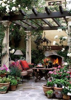 Outside Fireplace Designs for Outdoor Space