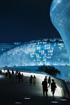 Night Scenery Of Dongdaemun Design Plaza - Zaha Hadid