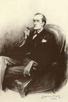 Sidney Paget Illustration of Holmes.