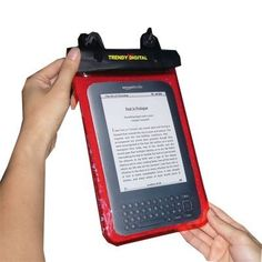 TrendyDigital WaterGuard Plus Waterproof Case with Padding for Kindle 3, Kindle Wi-Fi, or Kindle 3G and Wi-Fi , 6 - Inch Display, and Kindle Fire Android Tablet Red by TrendyDigital. $19.99. Waterproof Case for Kindle   This is our upgraded version for our popular WaterGuard Waterproof case for Kindle.    this version comes with detachable straps for added flexibility, back padding for bump protection.      The WaterGuard Plus (TM)  Waterproof Case guards against any wet environ...