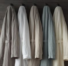 Stonewashed Belgian Linen Robe- any color, Size M or L (10-12). $79 [rh]