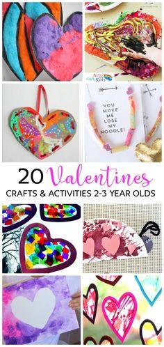 Arty Crafty Kids   Valentines   20 Valentines Preschool Crafts