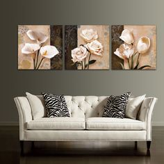 Frame Orchid Wall Painting Flower Canvas Painting Home Decoration Pictur - bdarop Canvas Art Prints, Canvas Wall Art, Wall Art Prints, Home Office Space, Home Office Decor, Wall Painting Flowers, Lighted Canvas, Wall Decor, Room Decor