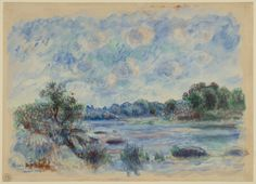 """Pierre-Auguste Renoir, """"Landscape at Pont-Aven,"""" 1892. The area of Pont-Aven had been popular with artists, including Paul Gauguin, since the 1850s."""