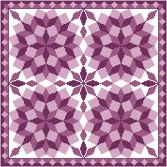 Jumbled Tumbling Blocks - cross stitch pattern designed by Susan Saltzgiver. Category: Quilts.