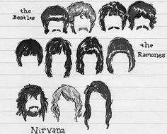 The Beatles, The Ramones, and Nirvana