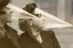 These were called Blizzard Cones. Before waterproof mascara was invented, women were offered these special masks as a way to protect their make-up from the elements. 20 absurd inventions from the past that didn't catch on