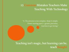 It is just as important for a teacher to know how to properly use technology as it is for the students. 15 Common Mistakes Teachers Make Teaching With Technology