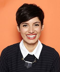 Pixie Hairstyles - New Styles For Really Short Hair | Short-haired girls have fun, too. See the 4 fresh DIY 'dos for seriously short hair, now. #refinery29 http://www.refinery29.com/55218