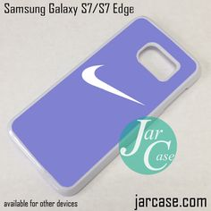 Blue Smooth Nike Phone Case for Samsung Galaxy S7 & S7 Edge