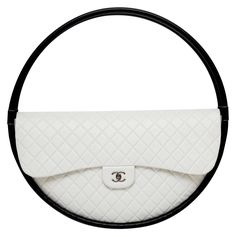 Frame It Collector's CHANEL Hula Hoop Runway  X-LARGE Bag  Limited  S/S 2013 NEW | See more vintage Novelty Bags at https://www.1stdibs.com/fashion/handbags-purses-bags/novelty-bags in 1stdibs