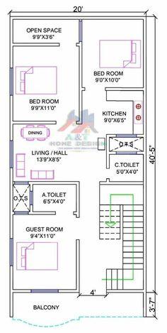 30x50 House Plans, 3d House Plans, Indian House Plans, Small House Floor Plans, Model House Plan, House Layout Plans, Best House Plans, Dream House Plans, House Balcony Design
