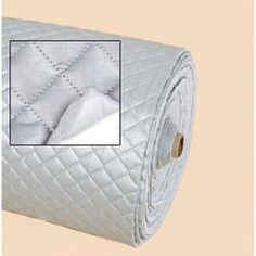 Quilted Iron Quick Fabric. Heat resistant to 399 degrees. Create potholders, curling iron bag, casserole carrier, iron board cover. Machine wash cool/air dry flat or use damp cloth to wipe clean.