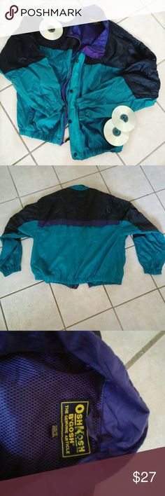 Vintage 80s Style Windbreaker Oshkosh B'gosh. Lightweight windbreaker. Goes well for an 80s hiphop vibe. Easily pair with sneakers and distressed jeans Osh Kosh Jackets & Coats