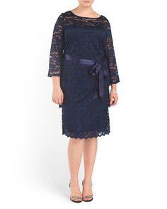 Plus Stretch Lace Dress