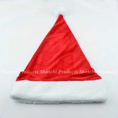 Christmas Santa hat with white trim and pom-pom. Perfect to wear with a Santa suit or with any outfit to add a festive touch during the holidays. Christmas Hat, Christmas Costumes, Father Christmas, Santa Costumes, Santa Suits, White Trim, Santa Hat, Costume Accessories, Hats