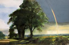 Land, Trees and Rainbow