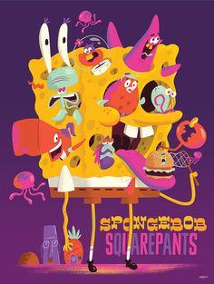 Spongebob Squarepants // Design & Illustration by The Beast Is Back Inc : Christopher Lee Cartoon Art, Cartoon Characters, Spongebob Drawings, Nickelodeon Shows, Nickelodeon Spongebob, Real Monsters, Affinity Designer, Geek Art, Spongebob Squarepants